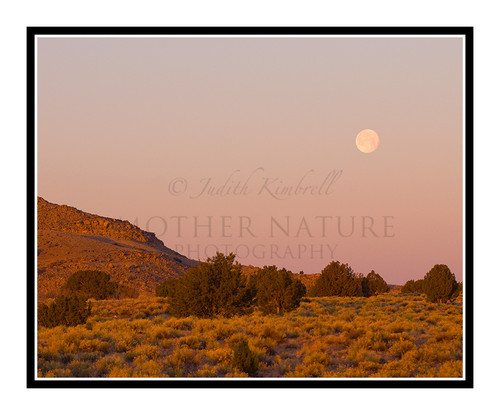 Moon Over Ute Mountain Indian Reservation, Colorado 1184