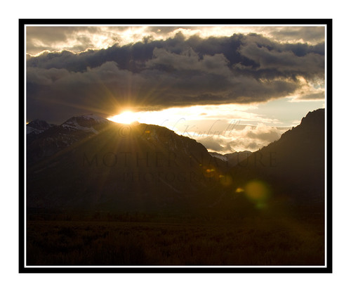 Sunburst Over the Grand Tetons at Sunset in Wyoming 1083