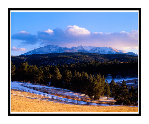 Pikes Peak in Winter from Woodland Park, Colorado 92