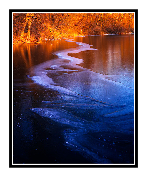 Ice Covered Pond at Sunset in Hillsdale, Michigan 101