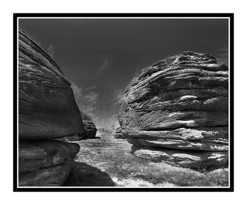 Rock City Formations in Kansas 2681 BW