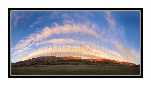 Garden of the Gods with a Cloud Rainbow in Colorado Springs, Colorado 2741 Pano