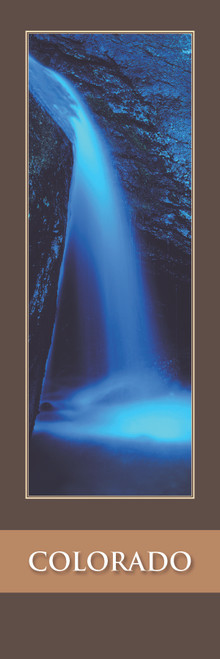 Colorado Bookmark - Blue Waterfall 127 Front