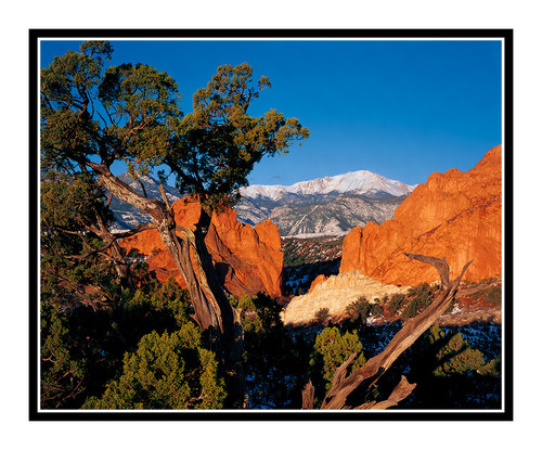 Pikes Peak over Garden of the Gods Gateway 41