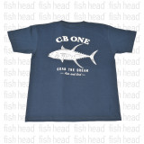 CB One Yellow fin  T Shirt- Denim Blue