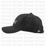 Fish Head Cap 6 Panel Black Logo