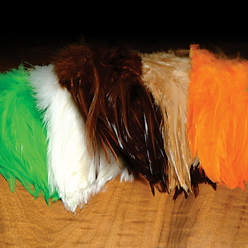 Strung Chinese 5-7 inch Saddle Hackles