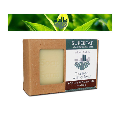 SUPERFAT Natural Handcrafted Soap Tea Tree with a Twist