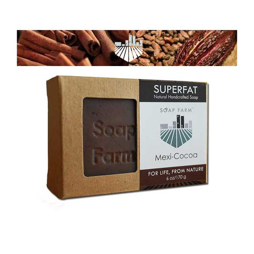 Superfat Natural Soap Mexi-cocoa 6 oz. bar