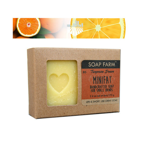 Minifat All Natural Handcrafted Soap for Kids 2 3 oz Bars