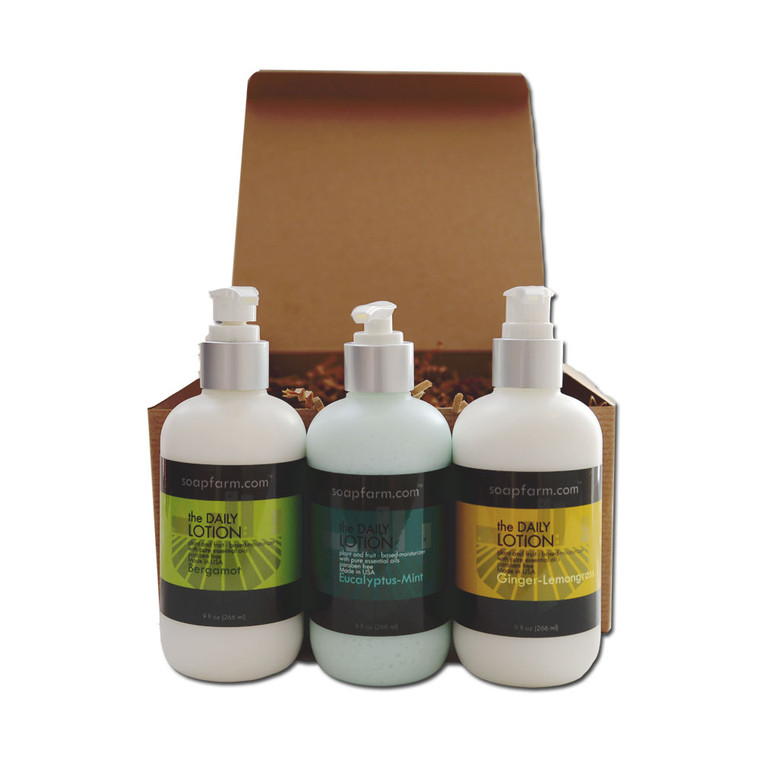 The daily Lotion 3 Pack Gift Box Customizable