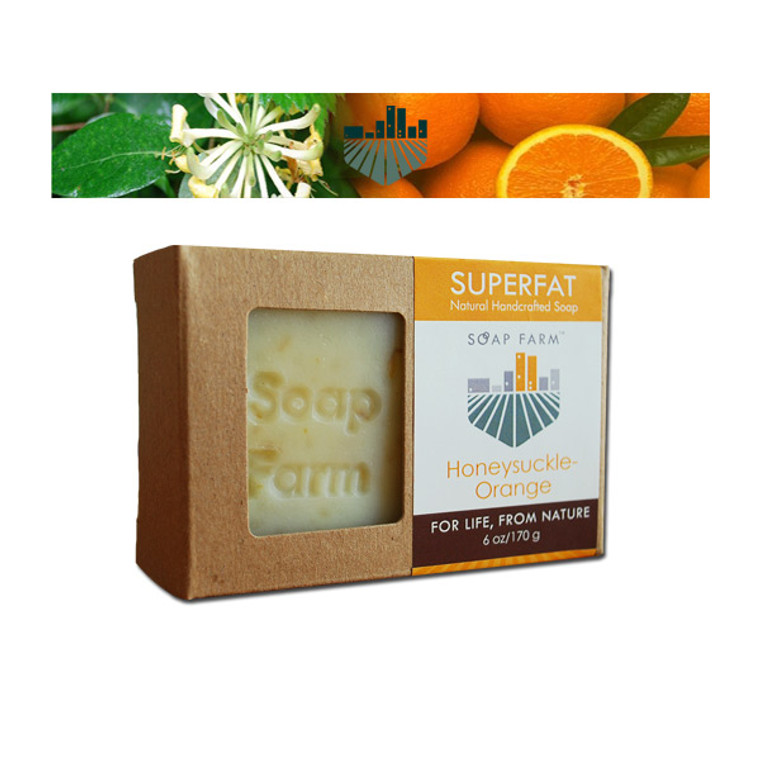 SUPERFAT Natural Soap Honeysuckle-Orange