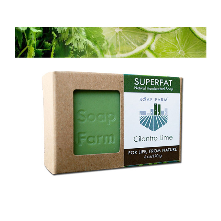 Soap Farm Superfat Cilantro Lime Handcrafted soap