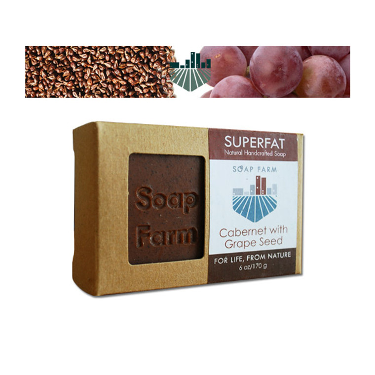 Cabernet and crushed grape seed Handcrafted Superfat Soap