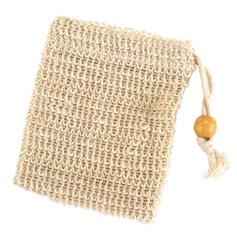 Sisal Soap Sack Saver with Drawstring, Buy More, Save More