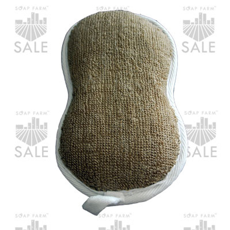 Terry flax curved sponge