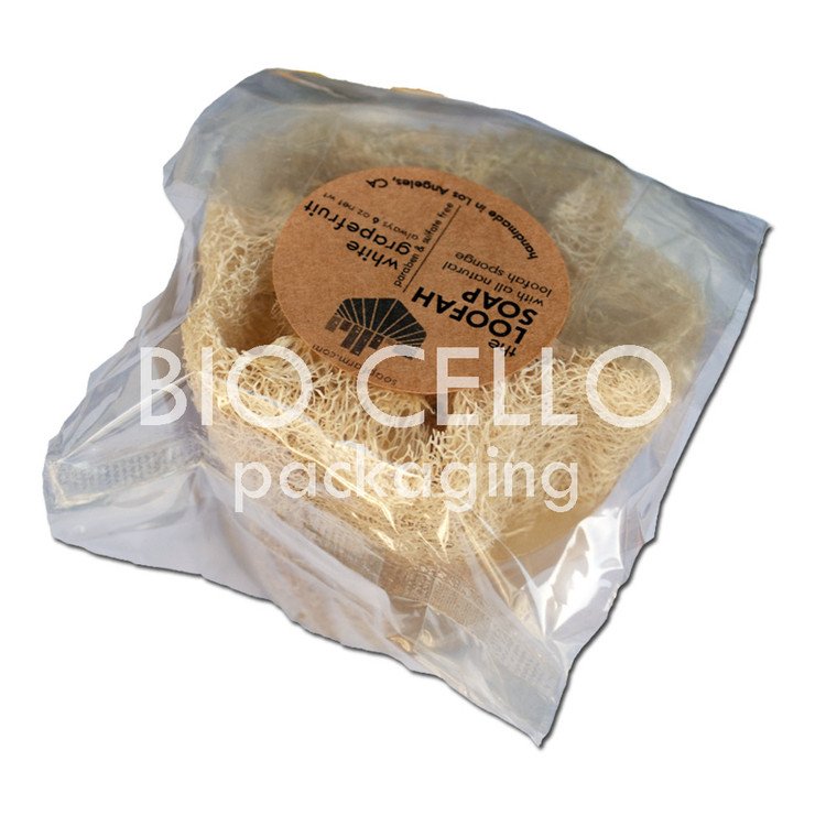 Jumbo Loofah Milk Soap with biodegradable cellophane