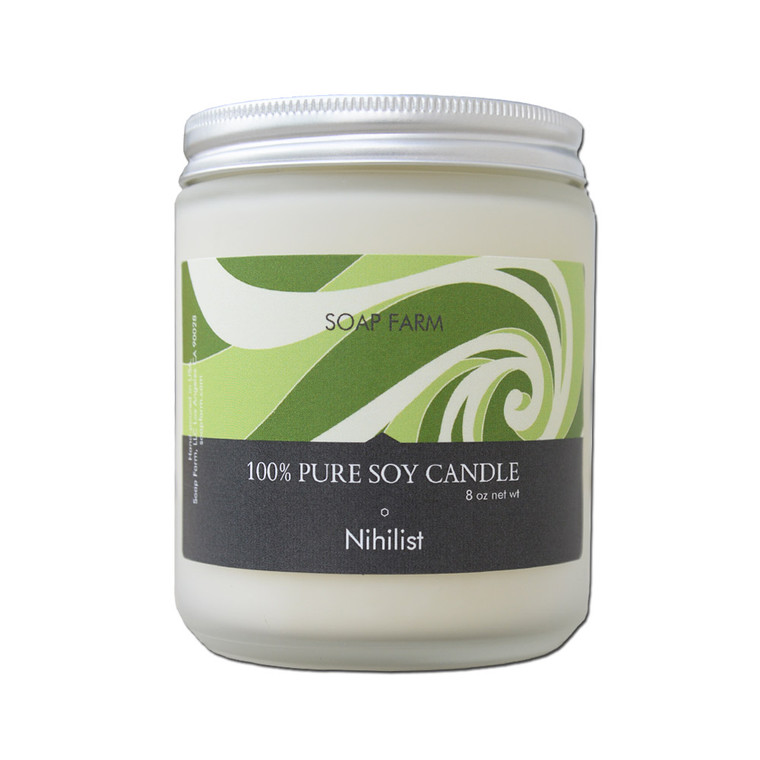 Nihilist (Unscented) Pure Soy Handcrafted Aromatherapy Candle 8 oz