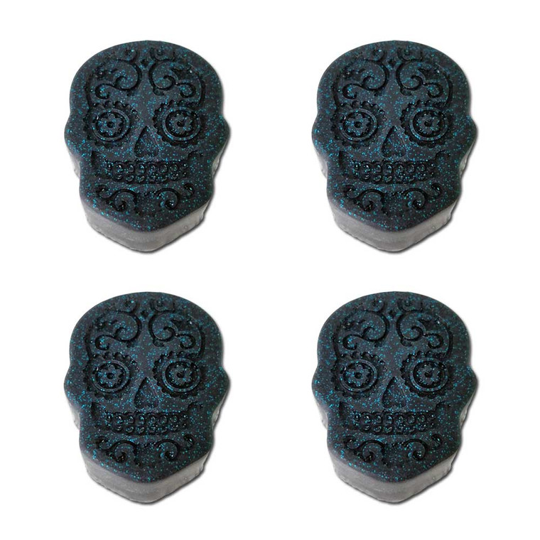Day of the dead black miniature glycerin soaps