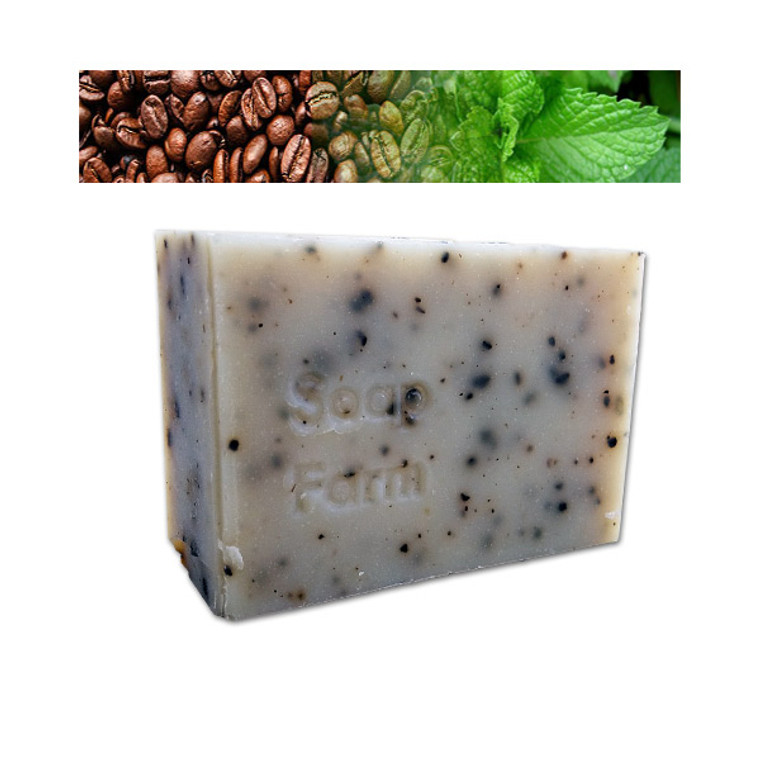 Coffee+Mint Superfat Soap 6 oz bar