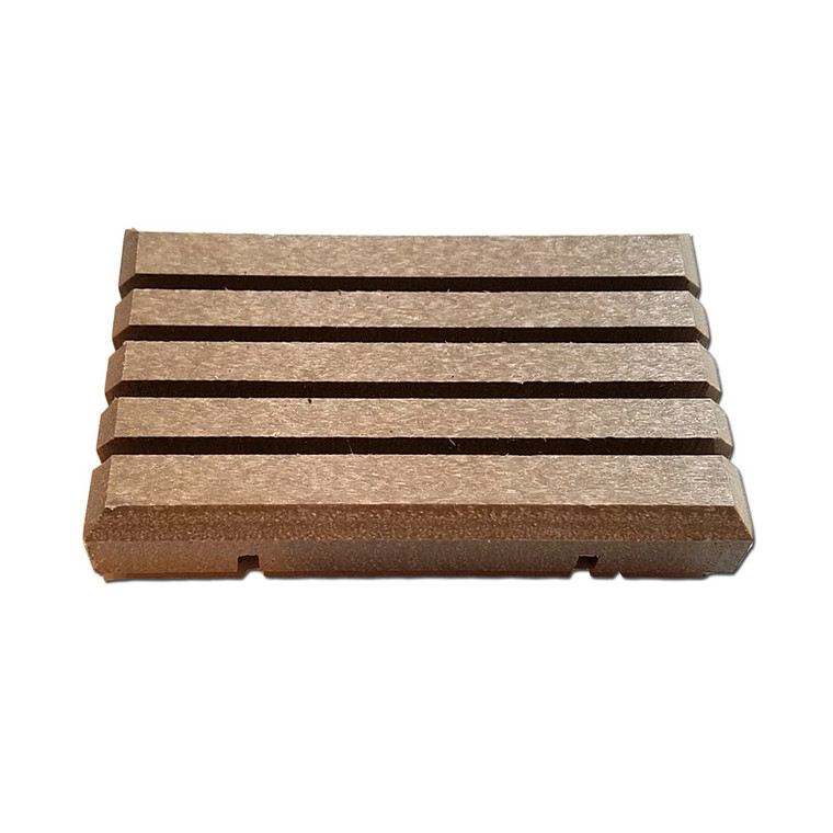 Eco friendly recycled plastic soap dish in Taupe