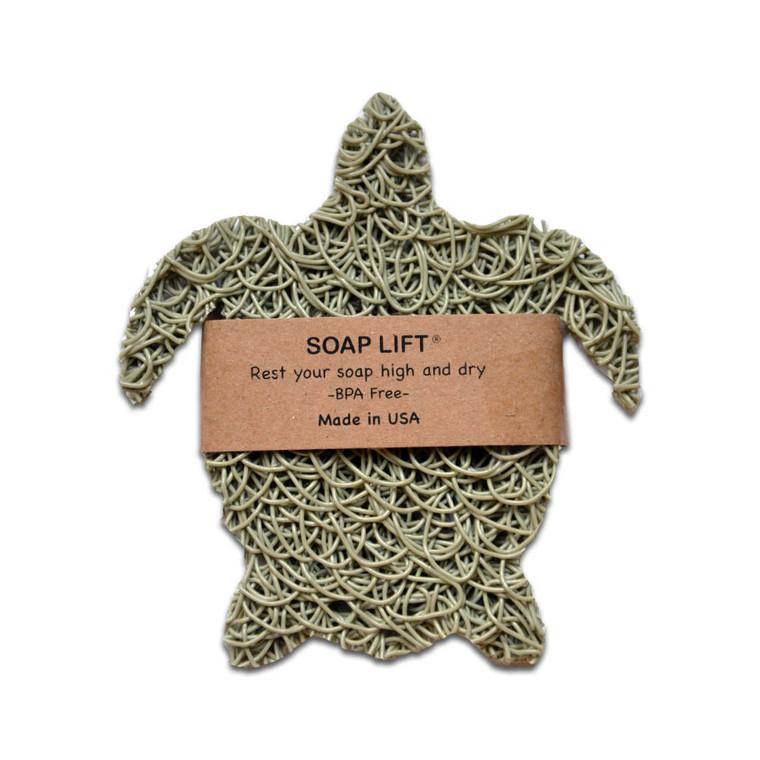 Soap Lift Soap Saver in sea green turtle