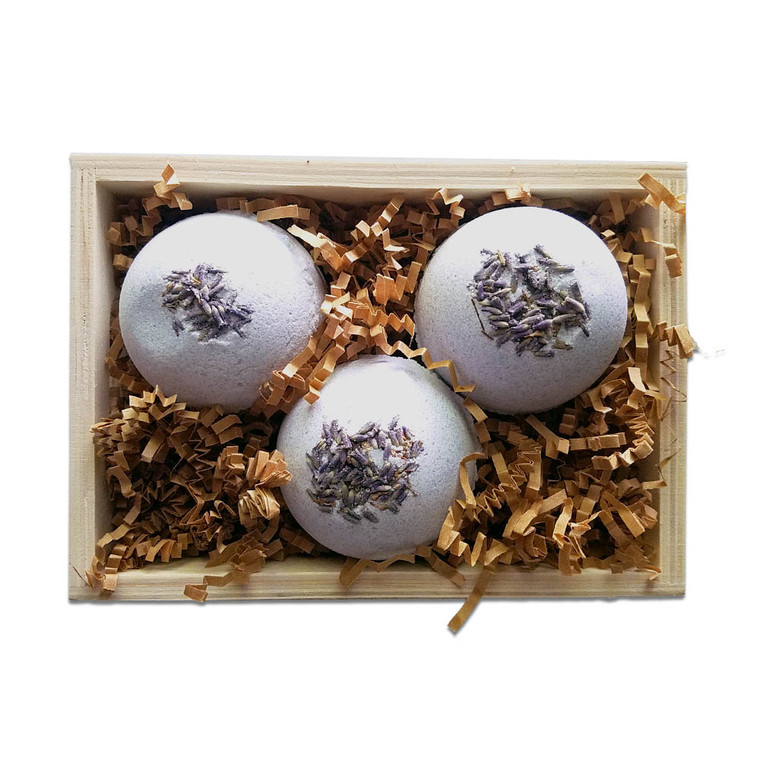 Soap Farm Bath Bomb Trio Wood Gift Crate