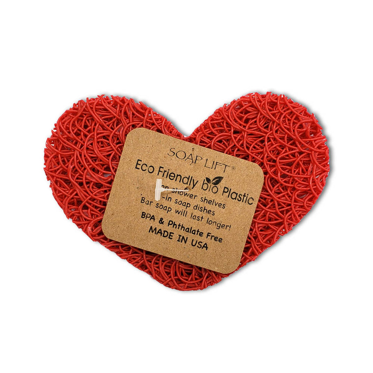 Soap Lift Red Heart Soap Dish