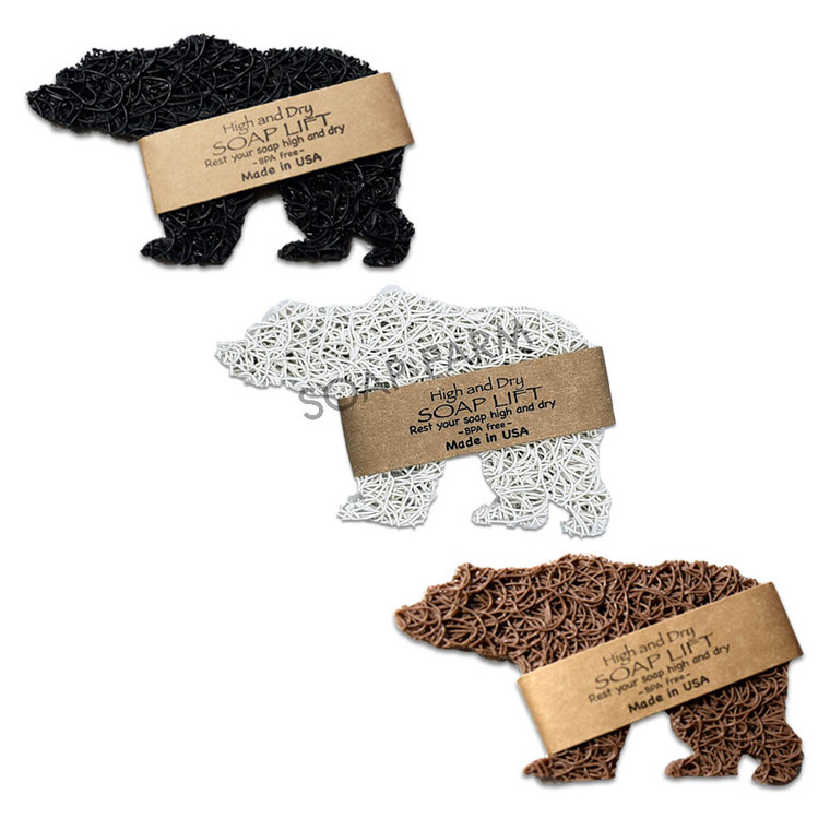 Soap Lifts in 3 Bears: Black, Brown, White