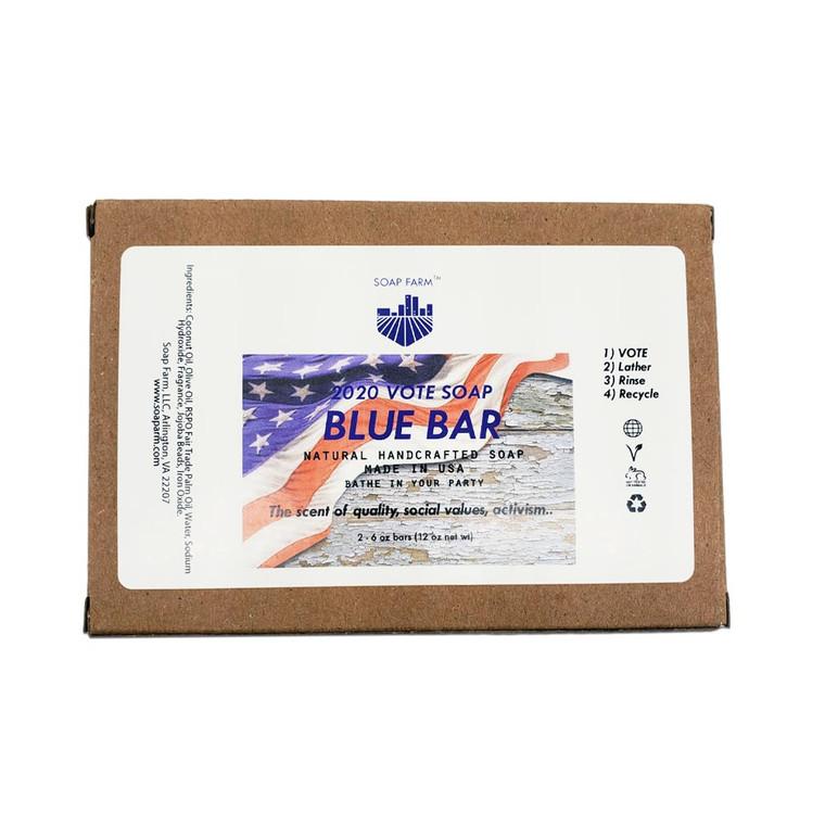 Superfat VOTE SOAP Blue Bar 2x 6 oz bars