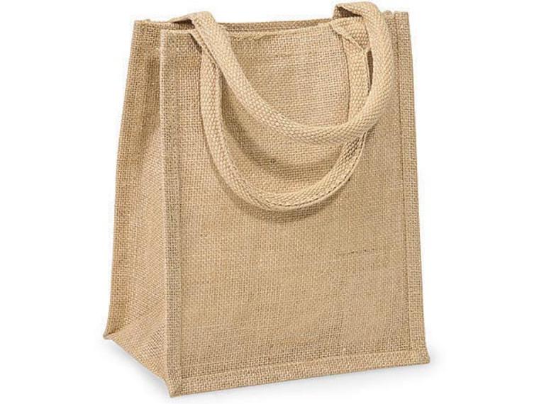 Add a burlap gift bag