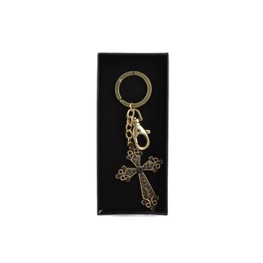 Lafitte Cross Keychain Gold