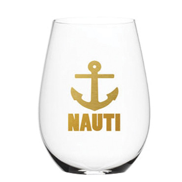"Electroplate ""Nauti"" Stemless Wine Glass (Set/6)"