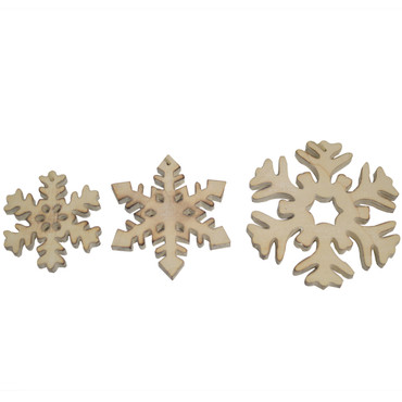 Driftwood Snowflake Ornaments