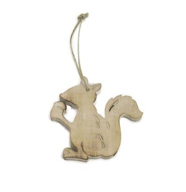 Wooden Squirrel Ornament