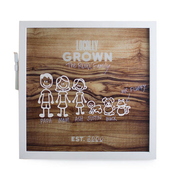 Locally Grown Marker Board- with stickers