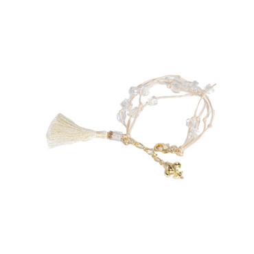 Beige Fluer Tassel Bracelet