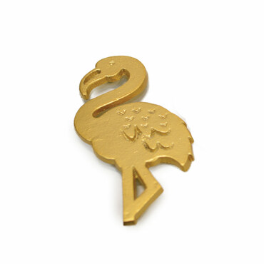 Gold Flamingo Trivet