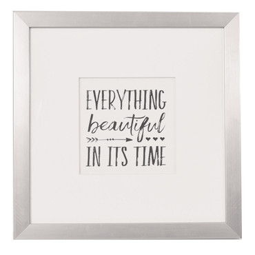 Silver Foil Frame - Beauty Takes Time