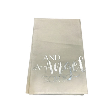 Silver Foil Hand Towel - And the Angel Said