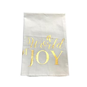 Gold Foil Hand Towel - A World of Joy