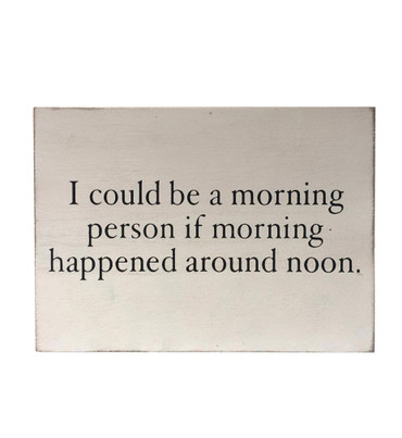 Morning Problems