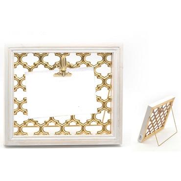 Gold Mesh FDL Frame White