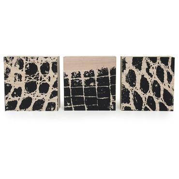 """Set/3 6"""" Alligator Blocks by L. Charleville"""