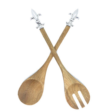 Wooden FDL Salad Servers