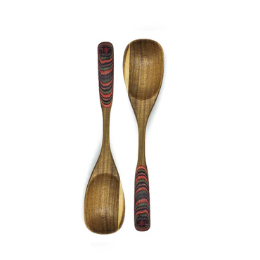 Set of 2 Boxed Wooden Stirrers/Servers