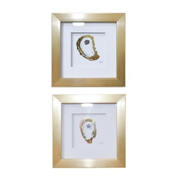 Small Gold Oyster Accent Decor