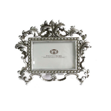 Antique Silver Fleur-De-Lis Frame 4x6