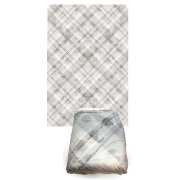 Cotton Plaid Fleece Blanket