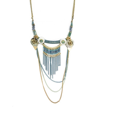 Aqua Layered Necklace